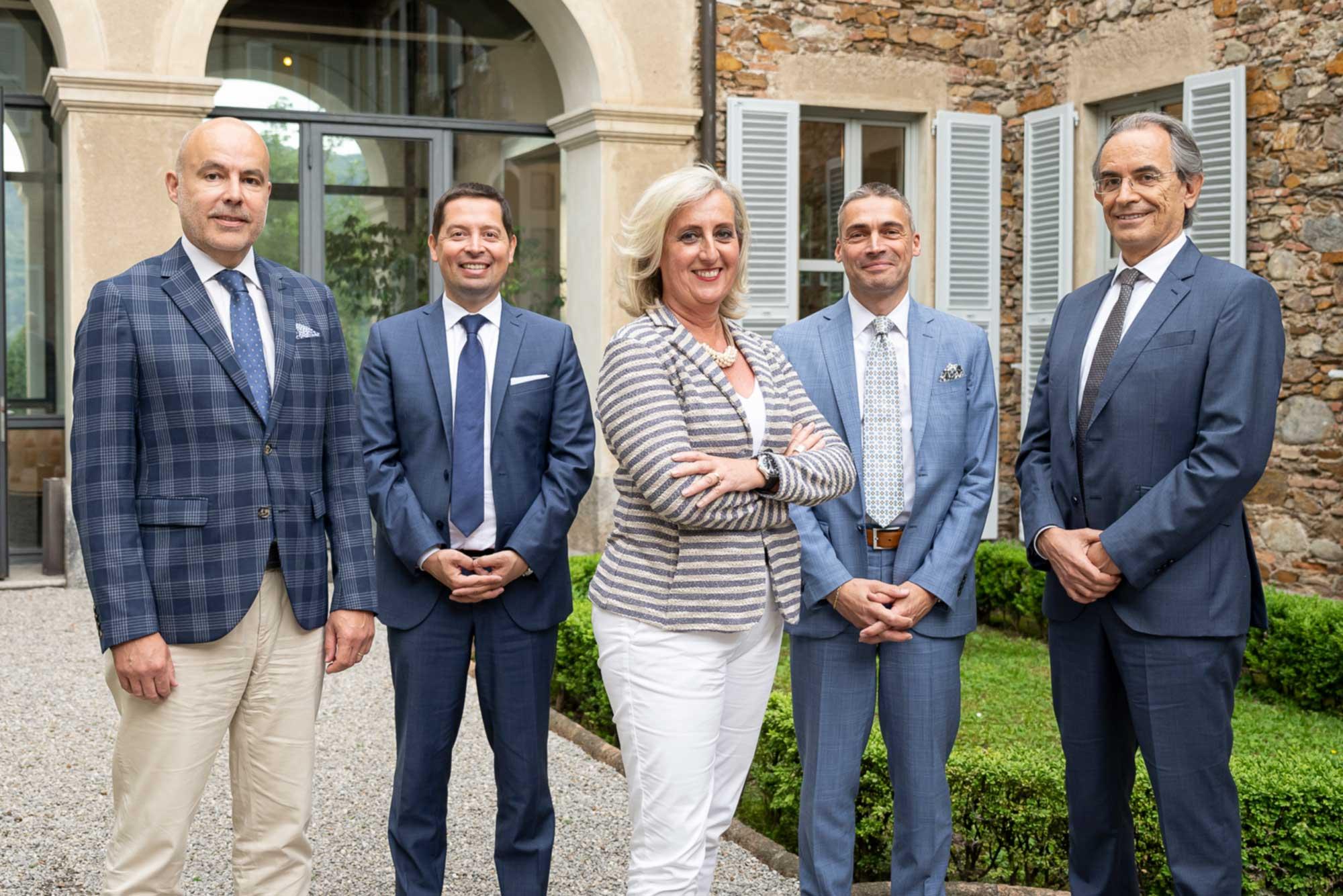 Da sinistra: Giuseppe Arrigoni, Sandro Prosperi, Alessandro Ciocca, Cristina Maderni, Fabrizio Ruscitti e Franco Pozzi